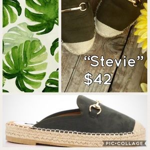 💚🌷SIZES LIMITED-Green Flat Mule💚 Espadrille🌷